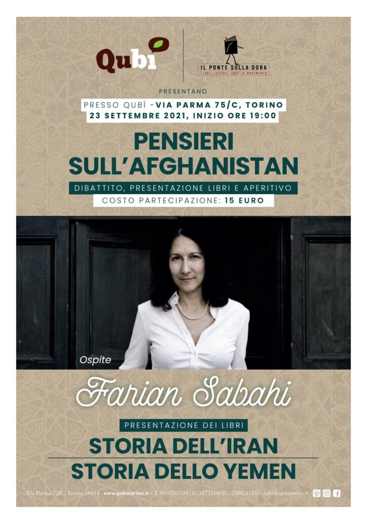 Locandina Pensieri sull'Afghanistan - con Farian Sabahi